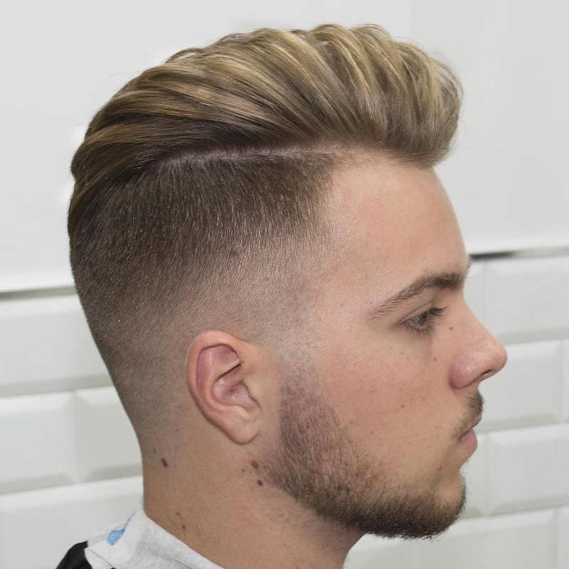 High Fade Haircut Designs Design Trends Premium PSD Vector