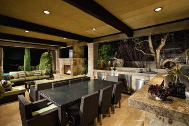 outdoor kitchen room dining kitchens luxury designs appliances backyard spacious living cabinets cabana countertops flooring decorating pools vector hgtv chef