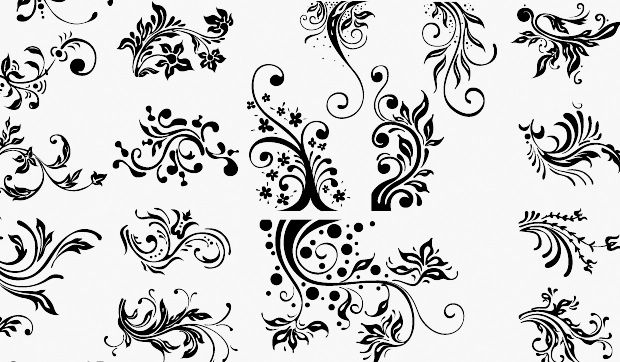 photoshop floral brushes
