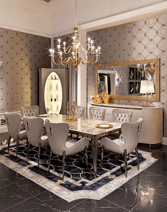 Dining Room Designs Trends 2016  Dining Room Designs  Design Trends  Premium PSD Vector