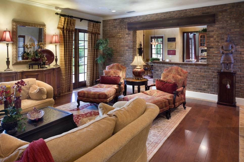 25 Brick Wall Designs Decor Ideas For Living Room
