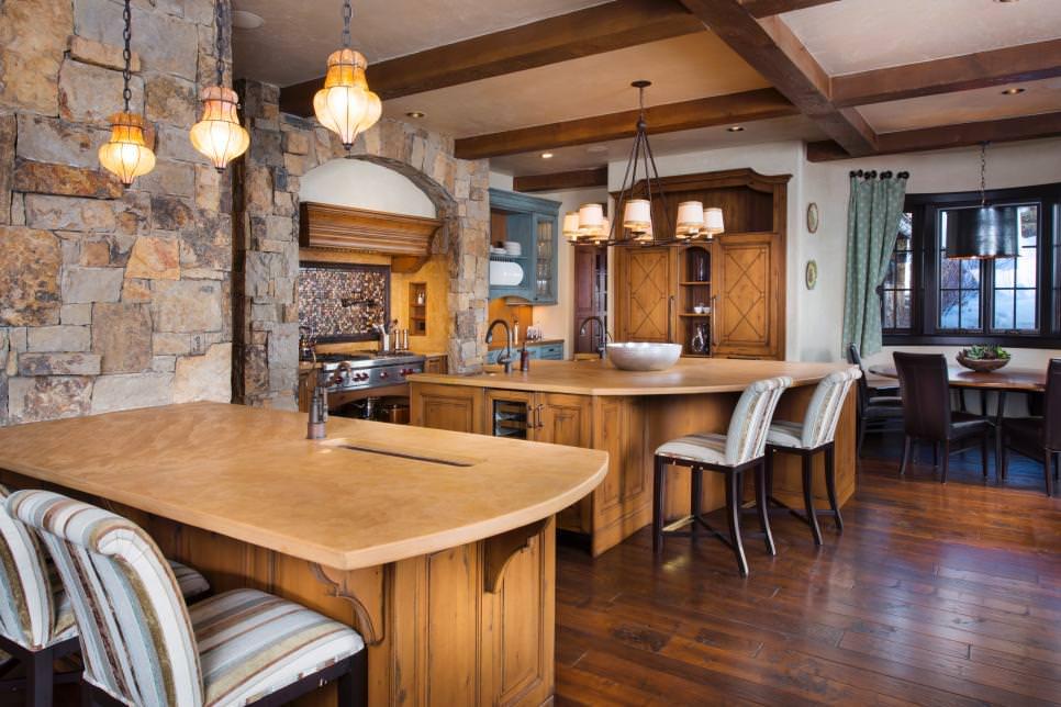 28 Stone Walled Kitchen Designs Decorating Ideas