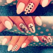 cross nail art design ideas