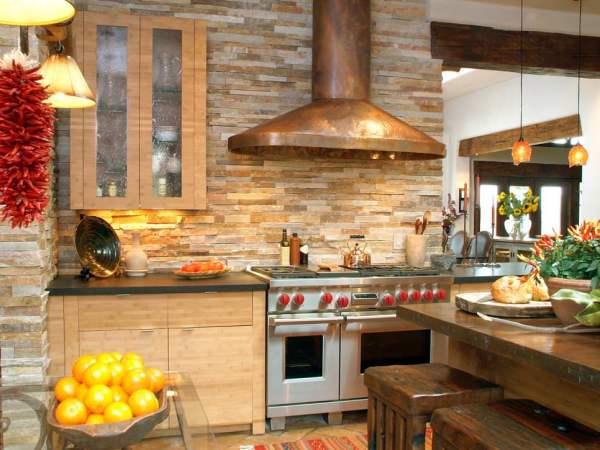 rustic kitchen with stone backsplash 26+ Different Textured Wall Designs, Decor Ideas | Design