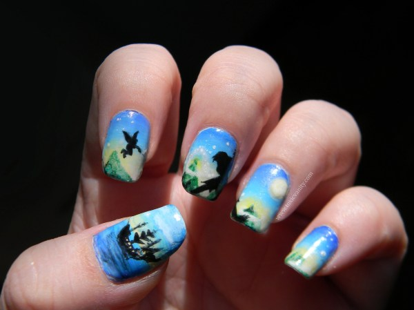 Disney Peter Pan Nail Art