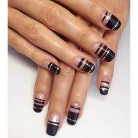 28+ Line Nail Art Designs, Ideas
