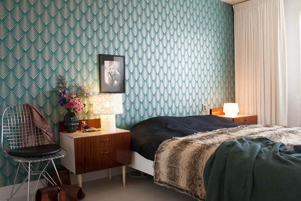 22 Geometric Wallpaper Designs Decor Ideas  Design