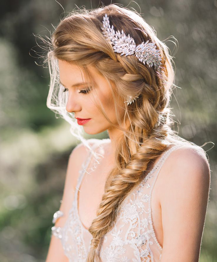 French Braid Wedding Hairstyles
