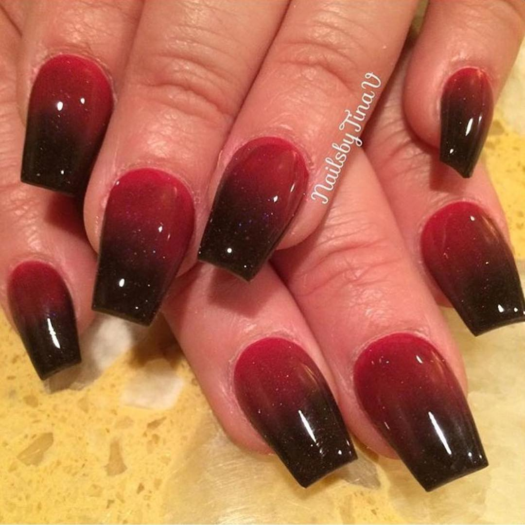 29+ Red and Black Nail Art Designs, Ideas