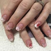 white tip nail art design