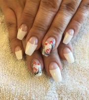 white tip nail art design