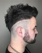 fade haircuts with lines hair