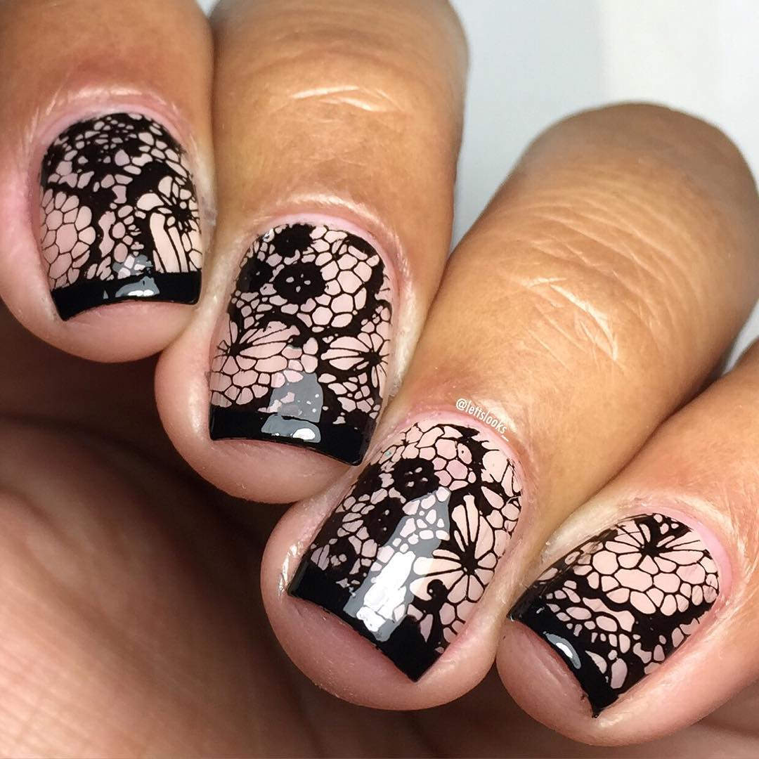 25+ Lace Nail Art Designs, Ideas