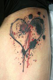 heart broken tattoo design
