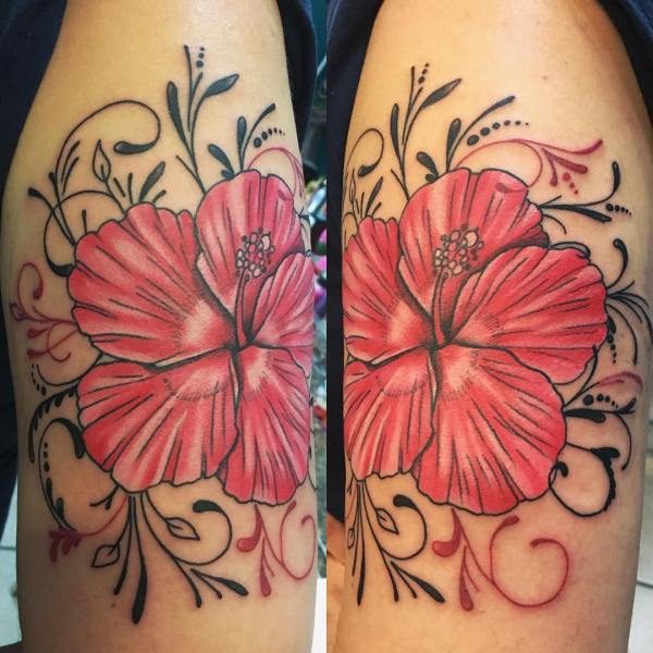 20 Gallery Of Hibiscus Flower Tattoos Pictures And Ideas On Meta