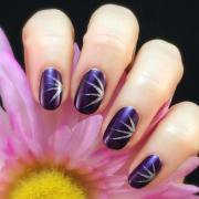 simple short nail art design
