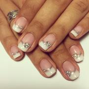 simple short nail art design