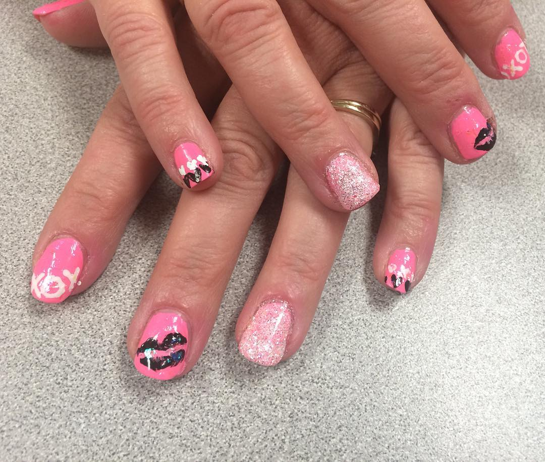 Sharp Long Nails With Designs