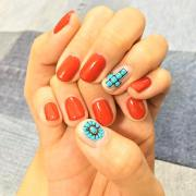 turquoise nail art design