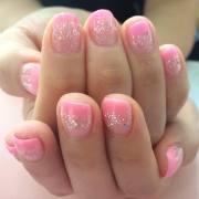 light pink nail art design