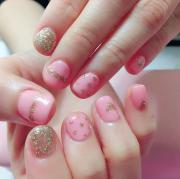light pink nail art design
