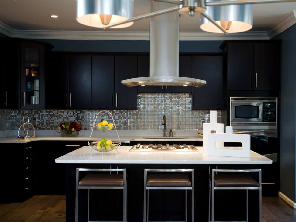 kitchen black cabinets light fixture 24 cabinet designs decorating ideas design trends stylish modern