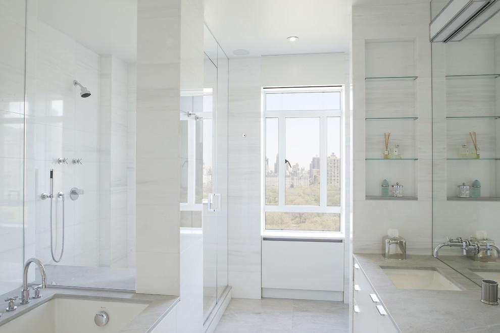 24 Bathroom Glass Shelves Designs Ideas  Design Trends