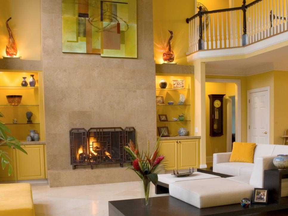 25 Yellow Living Room Designs Decorating Ideas  Design