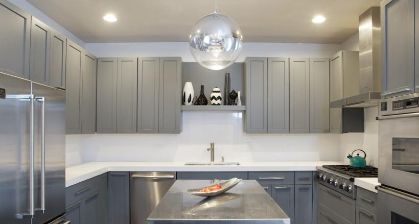 grey kitchen cabinets bar cart 24 designs decorating ideas design trends