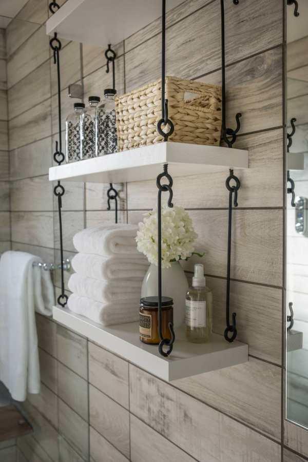 Hanging Bathroom Shelf Ideas