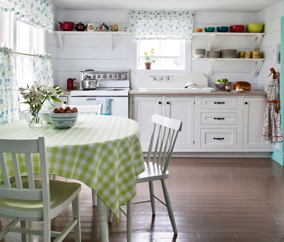 Shabby Chic Curtains For Kitchen