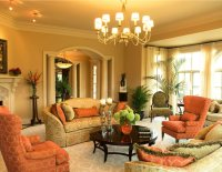 19+ Orange Living Room Designs, Decorating Ideas