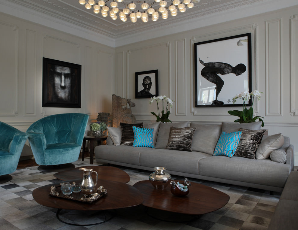 leather sofa set for living room pictures of modern rooms decorated 24+ gray furniture, designs, ideas, plans ...