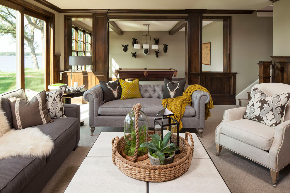 24 Gray Sofa Living Room Furniture Designs Ideas Plans Part 51