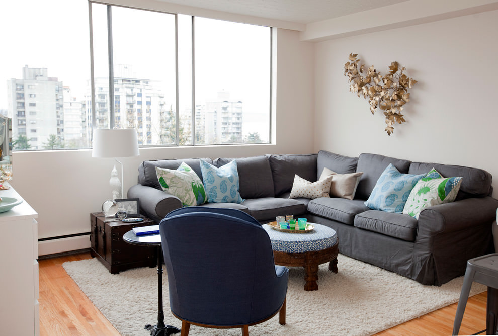 24 Gray Sofa Living Room Furniture Designs Ideas Plans Part 93