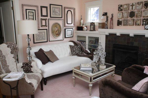 pink glam living room decor 20+ Pink Living Room Designs, Decorating Ideas | Design