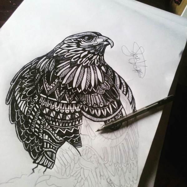 Beautiful Bird Pencil Drawings Art Ideas Design Trends - Premium Psd Vector