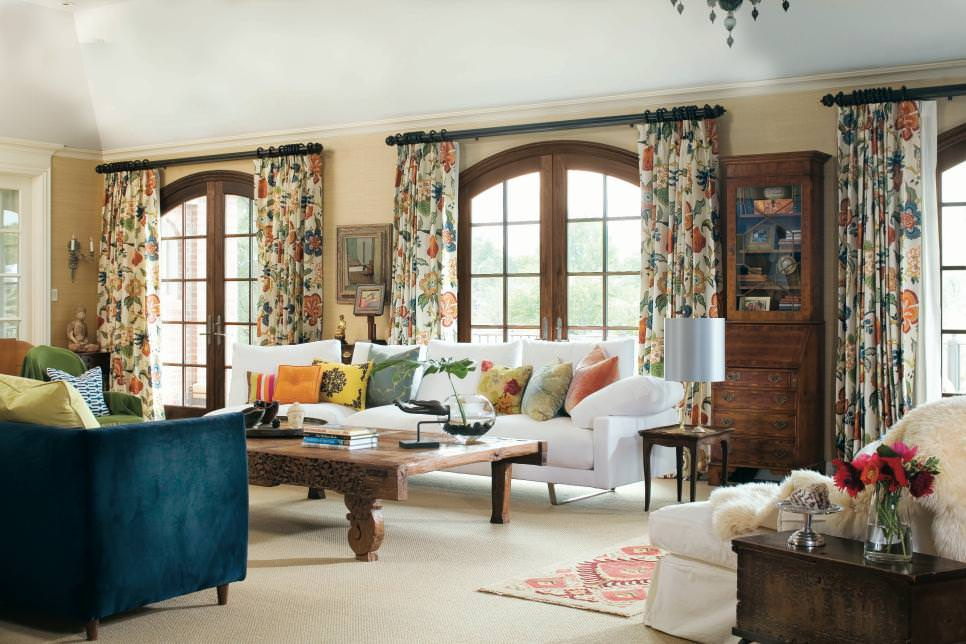 living room draperies narrow side tables for uk 20 curtain designs decorating ideas design trends eclectic with patterned