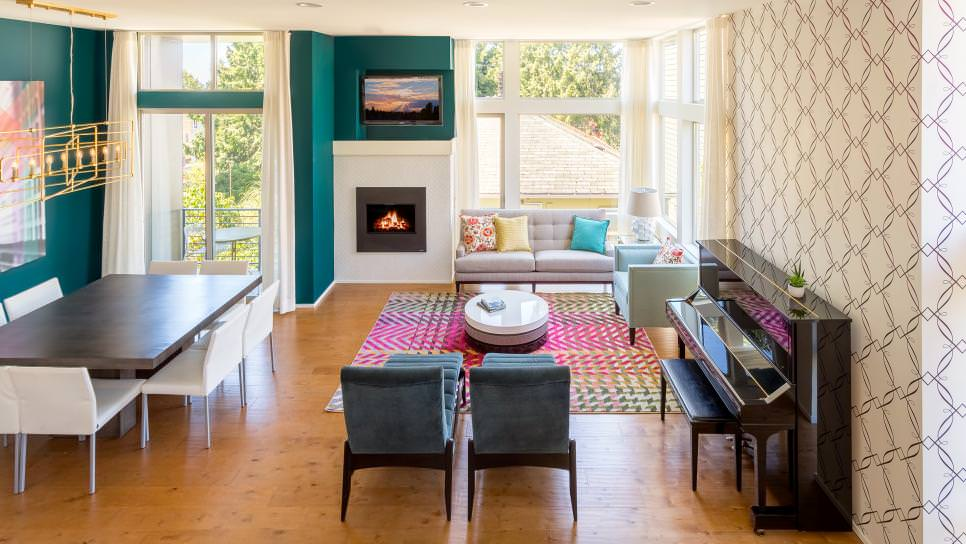 22 Teal Living Room Designs Decorating Ideas Design Trends. Teal Accent Wall  ... Part 52