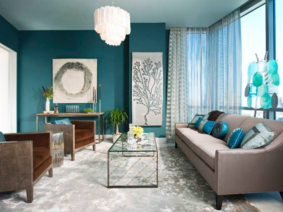 decorating ideas living room blue lighting options for 22 teal designs design trends contemporary