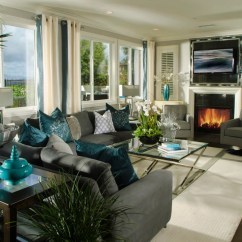 Gray And Turquoise Living Room Decorative Tables For 22 Teal Designs Decorating Ideas Design Trends Dazzling