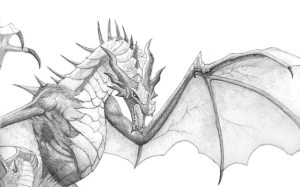 dragon drawing skyrim evil drawings seigner realistic flying deviantart clip library clipart