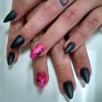 Black and Pink Nail Designs | Design Trends - Premium PSD ...