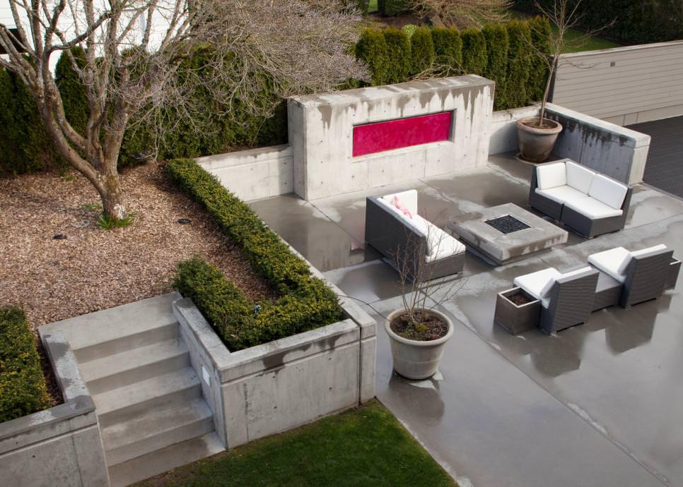 25 concrete patio outdoor designs