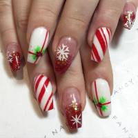 30+ Candy Cane Nail Art Designs, Ideas | Design Trends ...