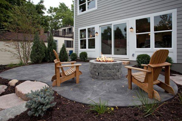 concrete patio outdoor design