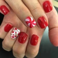 Candy Cane Nail Design - Nail Ftempo