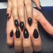 short stiletto nail art design