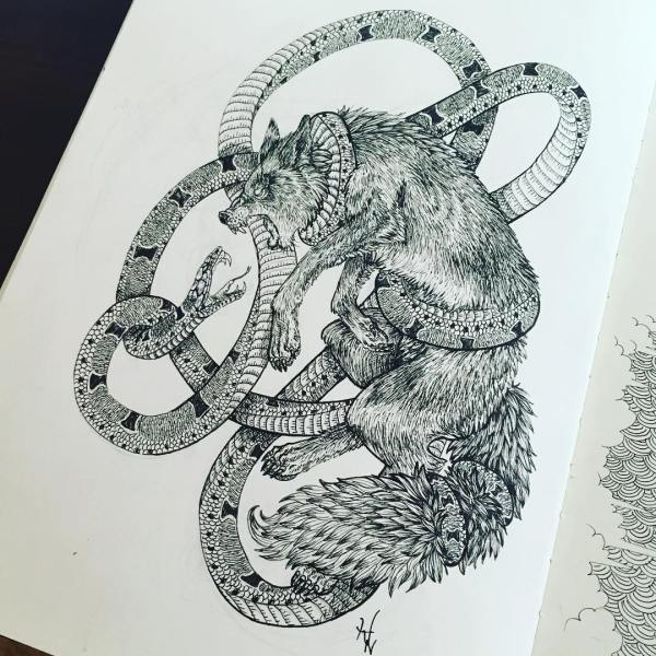 Amazing Collection Of Wolf Drawing Drawings Design Trends