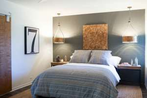 accent wall bedroom master modern paint decor designs walls upper pendant lights lighting painted brick hgtv wood interior dark fixer